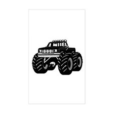 BLACK MONSTER TRUCK Rectangle Decal
