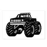 BLACK MONSTER TRUCK Postcards (Package of 8)