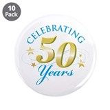 "Celebrating 50 Years 3.5"" Button (10 pack)"