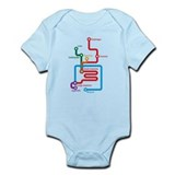Gastrointestinal Subway Map Onesie