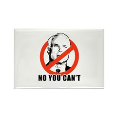 Anti-McCain: No you can't Rectangle Magnet (10 pac