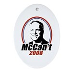 McCan't 2008 Oval Ornament
