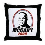 McCan't 2008 Throw Pillow