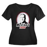 McCan't 2008 Women's Plus Size Scoop Neck Dark T-S