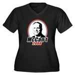 McCan't 2008 Women's Plus Size V-Neck Dark T-Shirt