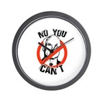 No you can't Wall Clock