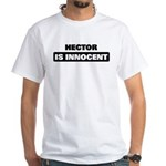 HECTOR is innocent White T-Shirt