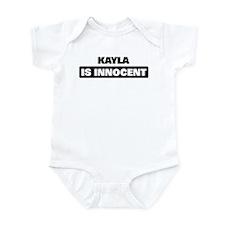 KAYLA is innocent Infant Bodysuit