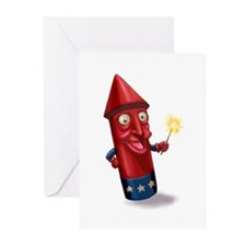 Mr. Sparkle Firecracker Greeting Cards (Package of