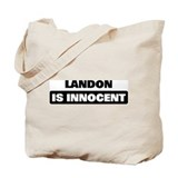 LANDON is innocent Tote Bag