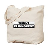 WENDY is innocent Tote Bag