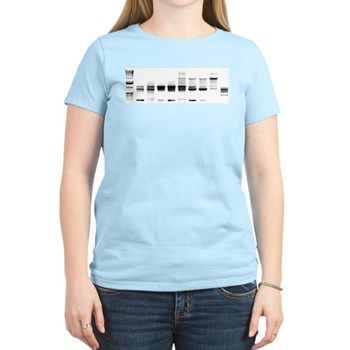 DNA Gel B/W Women's Light T-Shirt | Gifts For A Geek | Geek T-Shirts