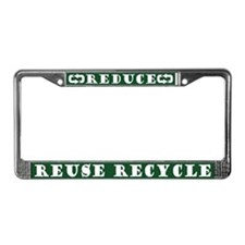 Reduce Reuse Recycle License Plate Frame