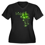 Irish Keepsake Women's Plus Size V-Neck Dark T-Shi