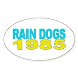 RAIN DOGS Oval Decal