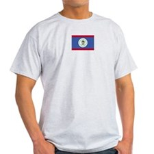 Belize Flag Ash Grey T-Shirt