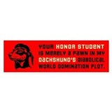 Dachshund Honor Student Bumper Sticker 1