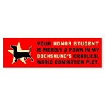 Dachshund Honor Student Bumper Sticker 2