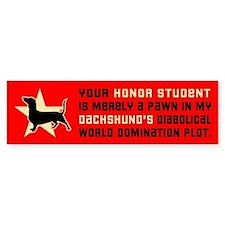 Dachshund Honor Student Bumper Sticker 2