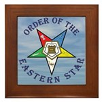 OES Star in the clouds Framed Tile