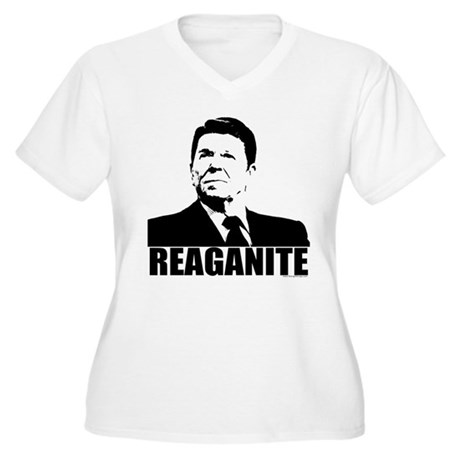 "Ronald Reagan ""Reaganite"" Women's Plus Size V-Neck"