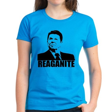 "Ronald Reagan ""Reaganite"" Women's Dark T-Shirt"