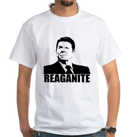 "Ronald Reagan ""Reaganite"" White T-Shirt"