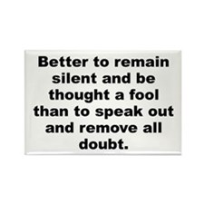 Funny Quotations Rectangle Magnet (100 pack)