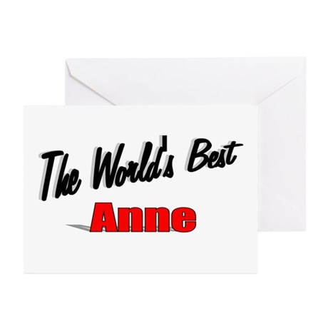 """The World's Best Anne"" Greeting Cards (Pk of 20)"