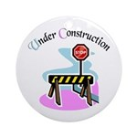 Baby under construction Keepsake (Round)