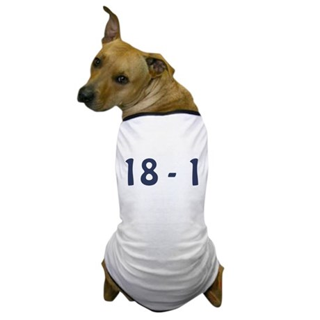 Giants Super Bowl Champs (18-1) Dog T-Shirt