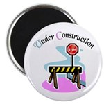 Baby under construction Magnet