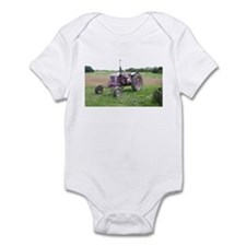 Pink/Purple Tractor Infant Creeper