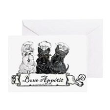 Scottish Terrier Chefs Greeting Card
