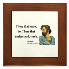 Aristotle 15 Framed Tile