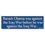 Barack Obama Was Against the Iraq War Sticker