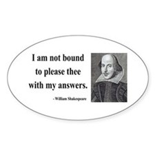 Shakespeare 13 Oval Decal
