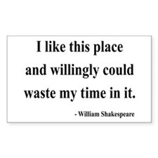 Shakespeare 15 Rectangle Decal
