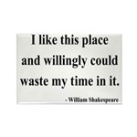 Shakespeare 15 Rectangle Magnet (10 pack)