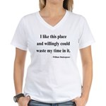 Shakespeare 15 Women's V-Neck T-Shirt