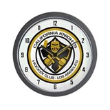 Cal Knights Hockey Wall Clock White