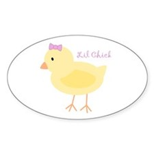 Lil Chick Oval Decal