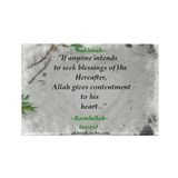 &quot;Contentment&quot; Rectangle Magnet (100 pack)