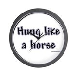 Hung Like a Horse Wall Clock