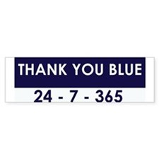 Thank You Blue Bumper Bumper Sticker