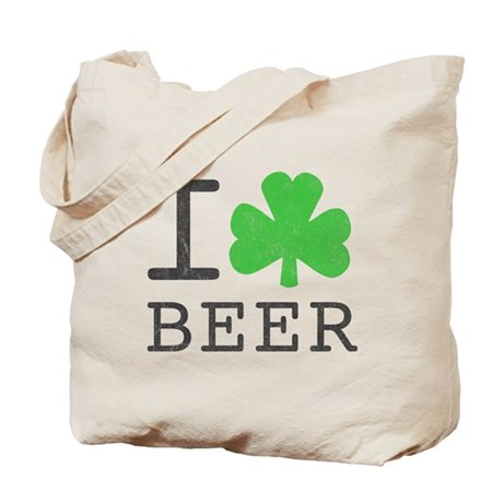 Vintage I Shamrock Beer Tote Bag