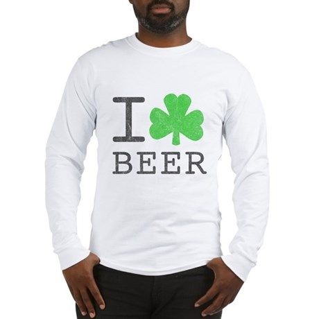 Vintage I Shamrock Beer Long Sleeve T-Shirt