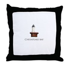 Chesapeake Bay Lighthouse Throw Pillow