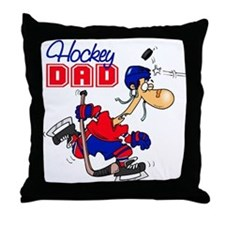 Hockey Dad Throw Pillow
