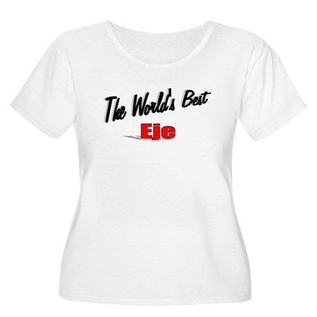 """The World's Best Eje"" Women's Plus Size Scoop Nec"